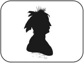 Mihšihkinaahkwa was a key Myaamia leader during the Mihši-maalhsa Wars. This silhouette was reportedly made of Mihšihkinaahkwa at some point during the 1790s. The only verified portrait of Mihšihkinaahkwa was destroyed when the White House was burned by the British in 1814.