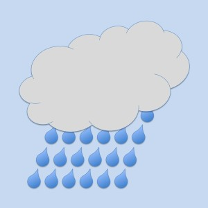 Clipart of a cloud with rain