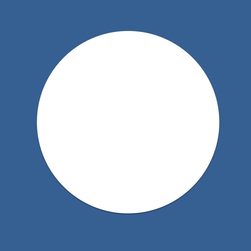 Clipart image of a white circle representing the full Moon.