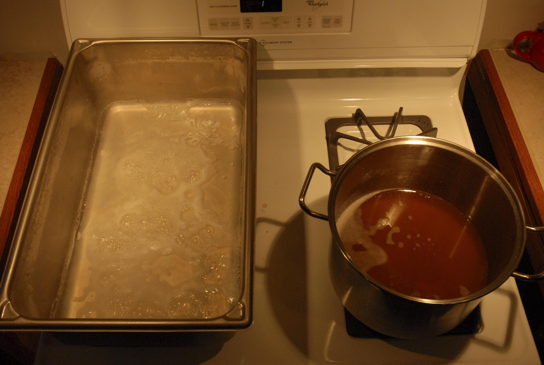ahsenaamišipowi 'sap' on the left and iihkisaminki 'syrup' on the right