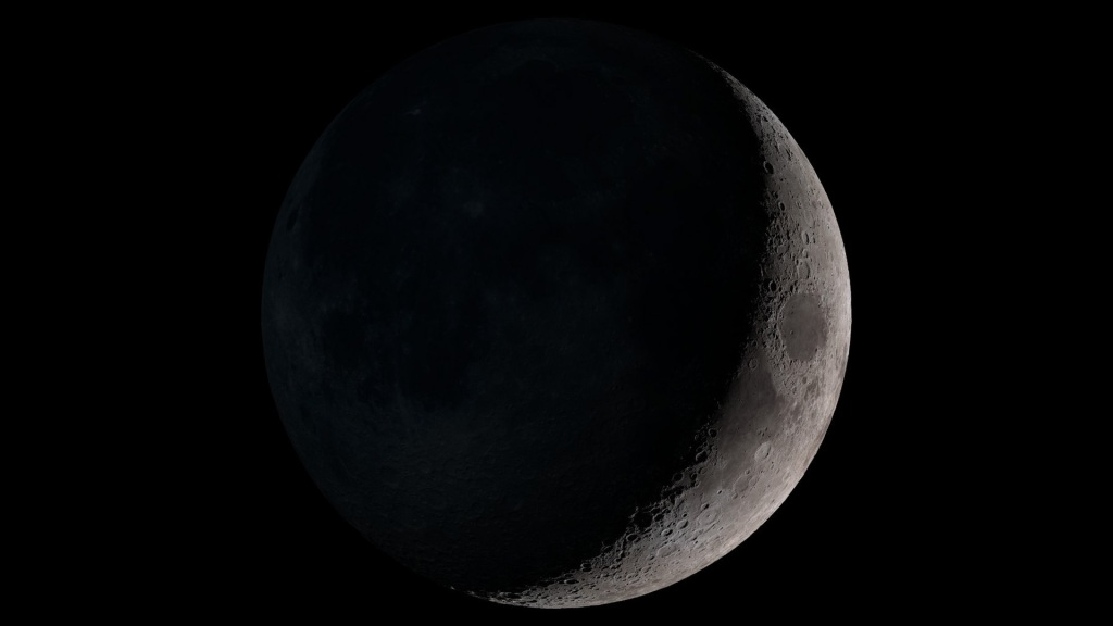 Waxing Crescent Moon image from NASA http://svs.gsfc.nasa.gov/11695