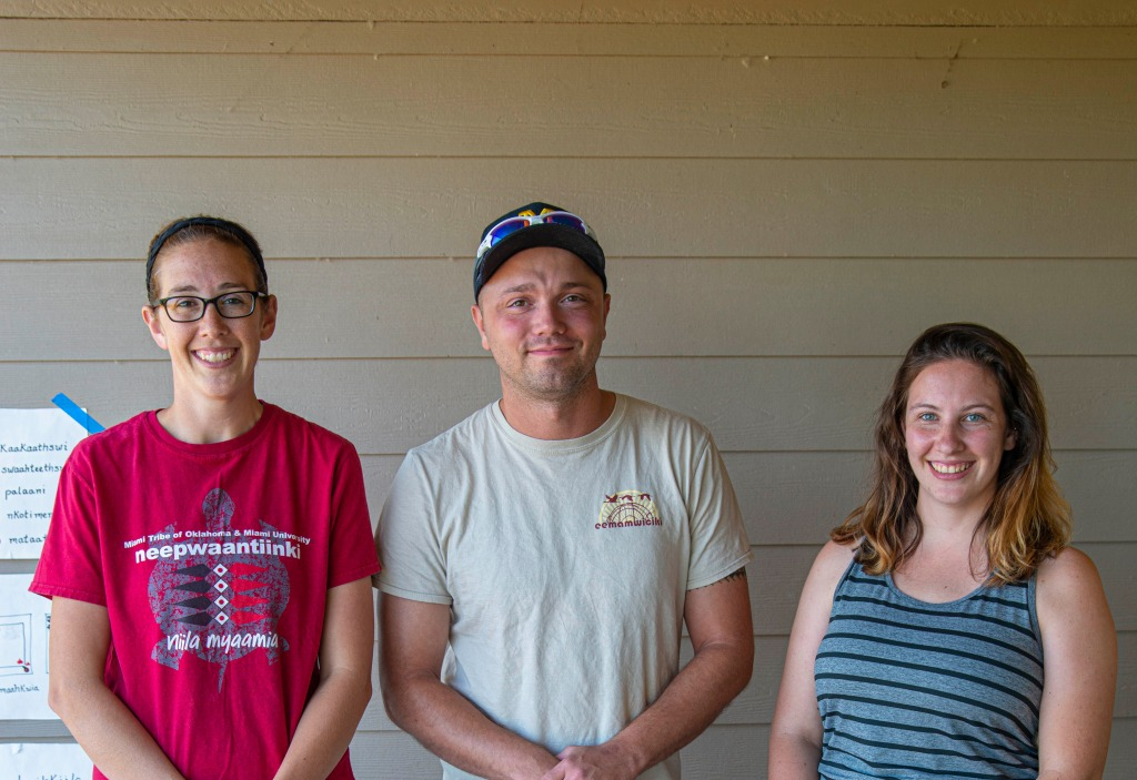 Saakaciweeta Staff (Left to Right) Jessie Seddelmeyer, Nate Poyfair, Emma Baldwin