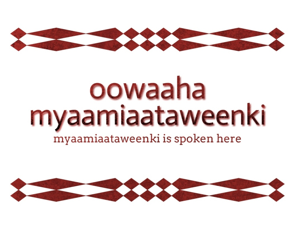 owaaha myaamiaataweenki with a top and bottom diamond pattern border
