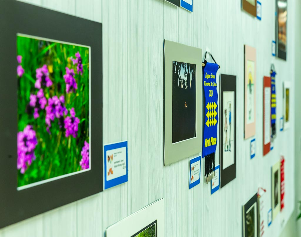 Artwork on display as part of the 2019 Eugene Brown Memorial Art Show.