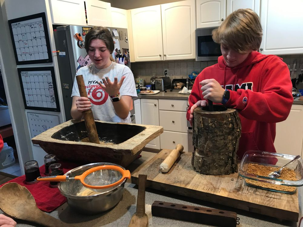 Gretchen Spenn and Joshua McCoy use maple syrup to create maple sugar