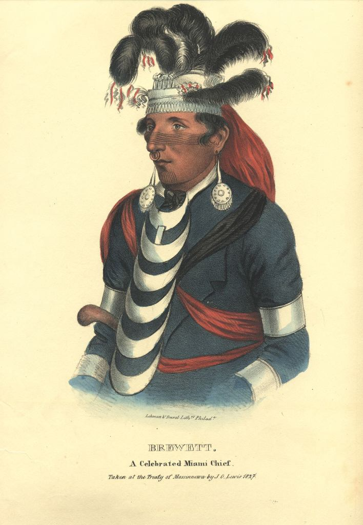 A portrait of Teekwaakia 'Jean Baptiste Brouilette' by J.O. Lewis