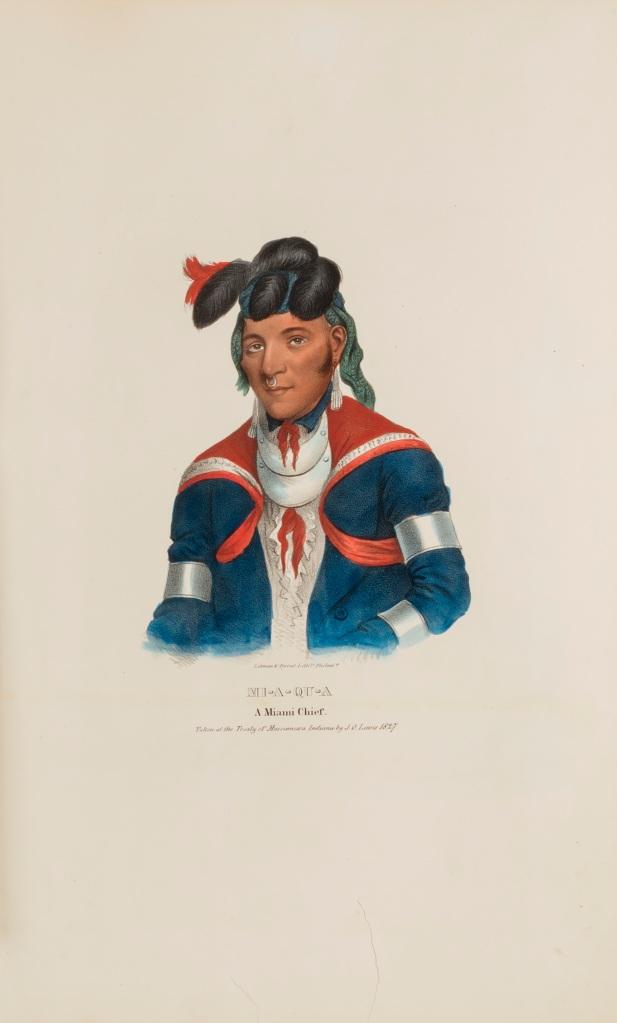 A portrait of Maayaahkwia by J.O. Lewis