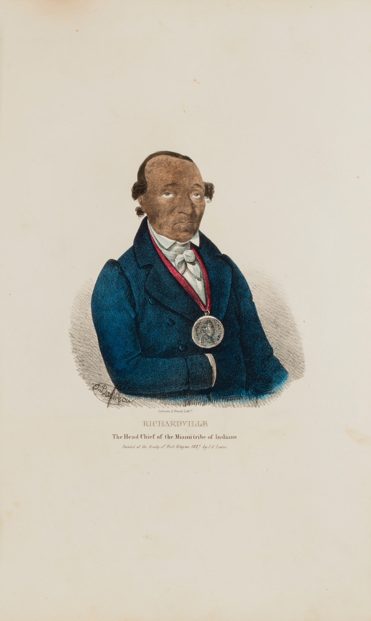 A portrait of J.B. Richardville by J.O. Lewis