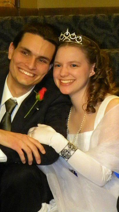 Jonathan and Tina Fox on their wedding day.