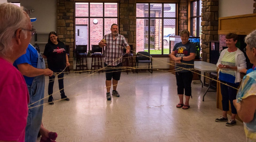 Participants of the 2019 Adult Summer Experience program participating in an introduction activity