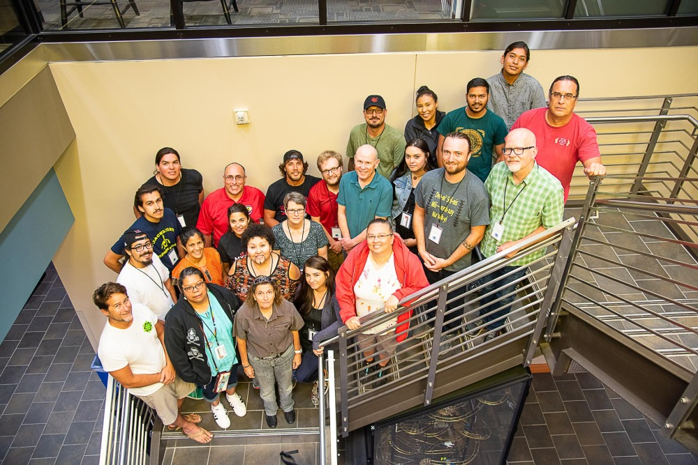 Participants and staff of the Module 2 Workshop for National Breath of Life Archival Institute held at Miami University, Oxford, Ohio. 2019.