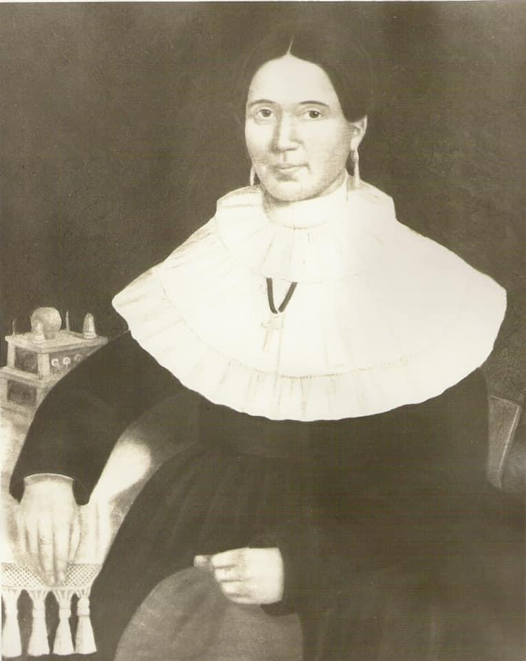 Posed painting of Catherine Lafontaine