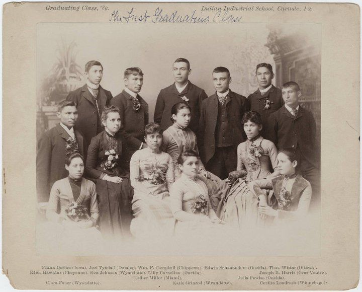 Students of the Carlisle Indian School class of 1889