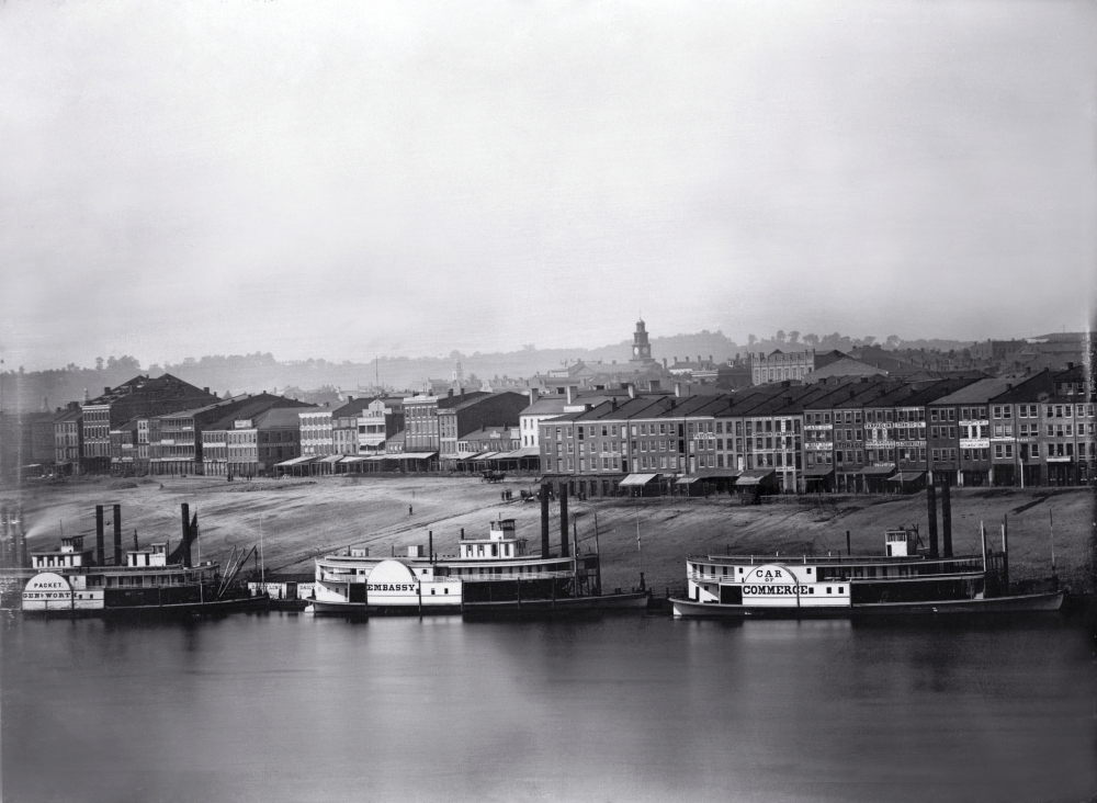 Image of Cincinnati Public Landing from 1848