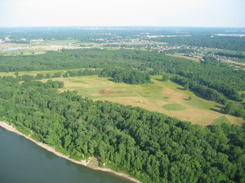 Ariel view of Angel Mounds