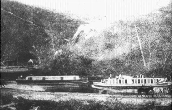 Boats on the Miami-Erie Canal